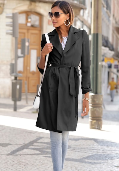 LASCANA Tussenmantel in de kleur Zwart, Modelweergave