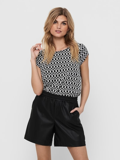 ONLY Bluse in schwarz / weiß, Modelansicht