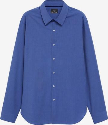 MANGO MAN Button Up Shirt in Blue