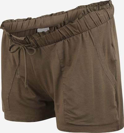 Pieces Maternity Shorts 'NEORA' in braun, Produktansicht