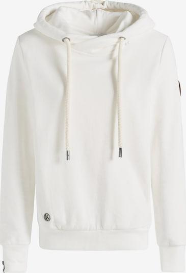 khujo Sweatshirt 'Tesia' in braun / weiß, Produktansicht
