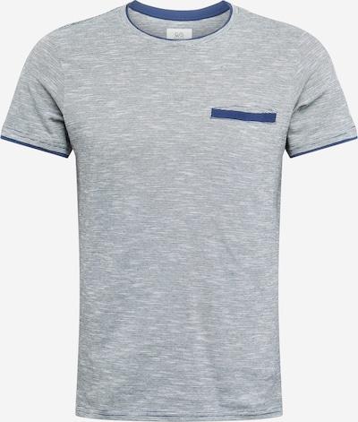 Q/S designed by Shirt in de kleur Navy / Lichtblauw, Productweergave