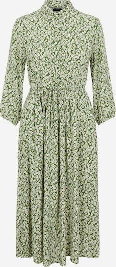 PIECES Kleid in grün / weiß, Produktansicht