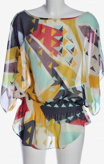 Papaya Kurzarm-Bluse in XXL in pastellgelb / schwarz / wollweiß, Produktansicht