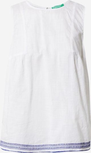 Bluză UNITED COLORS OF BENETTON pe albastru / alb, Vizualizare produs