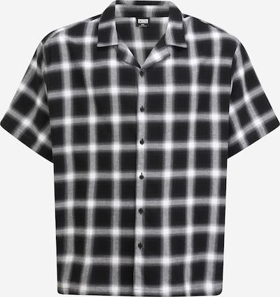 Urban Classics Plus Size Košeľa - sivá melírovaná / čierna / biela, Produkt