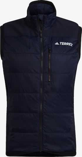 adidas Terrex Sportbodywarmer in de kleur Nachtblauw, Productweergave