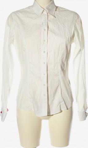 TM Lewin Langarmhemd in M in Weiß