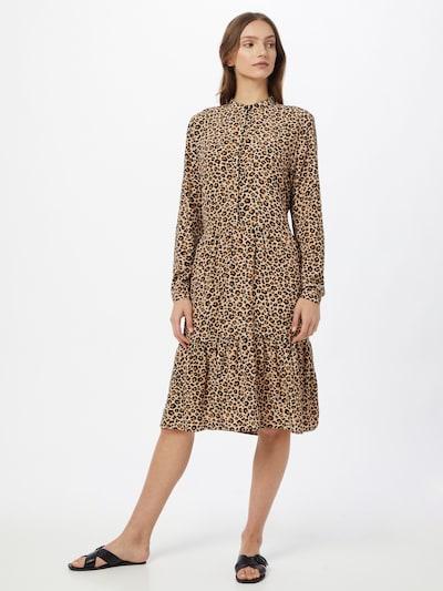 Kauf Dich Glücklich Kleid in beige / hellbraun / schwarz, Modelansicht