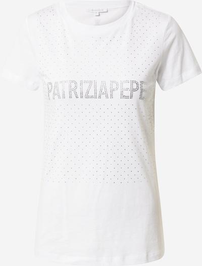 Tricou PATRIZIA PEPE pe argintiu / alb, Vizualizare produs