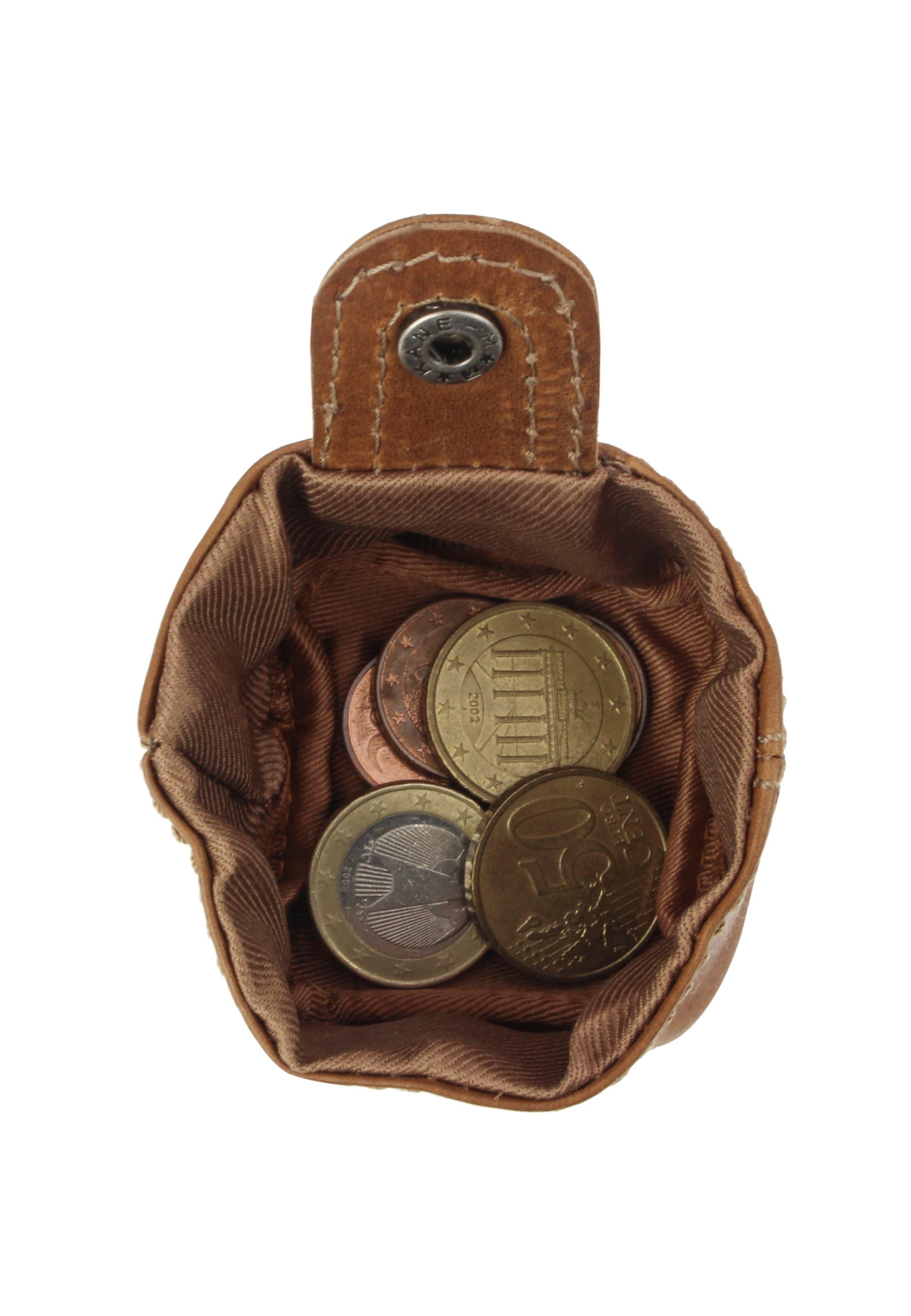 Gusti Leder Mini Geldbörse 'Linus' in braun