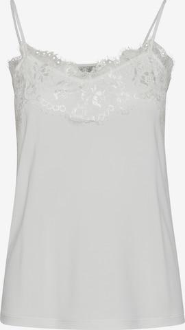 Top 'LIKE TO2' di ICHI in bianco