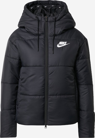 Nike Sportswear Winterjas in de kleur Zwart / Wit, Productweergave
