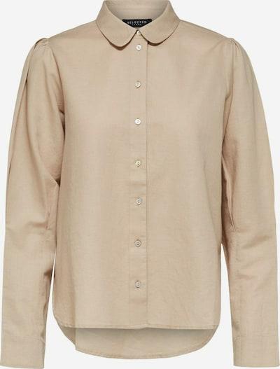 SELECTED FEMME Hemdbluse in beige, Produktansicht