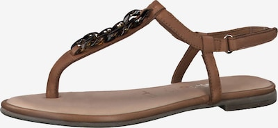 TAMARIS T-bar sandals in Cognac, Item view