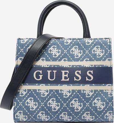 GUESS Handtas 'MONIQUE' in de kleur Crème / Blauw denim, Productweergave
