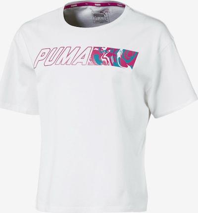 PUMA Functioneel shirt 'Alpha Graphic' in de kleur Blauw / Pink / Wit, Productweergave