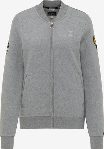 DreiMaster Maritim Zip-Up Hoodie in Grey