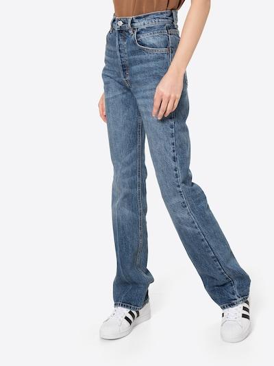 Džinsai iš Free People , spalva - tamsiai (džinso) mėlyna, Modelio vaizdas