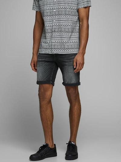 JACK & JONES Jeans 'Rick Org' i svart denim, På modell