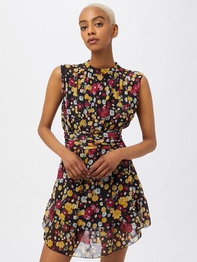 Trendyol Kleid in goldgelb / oliv / weinrot / schwarz / weiß, Modelansicht