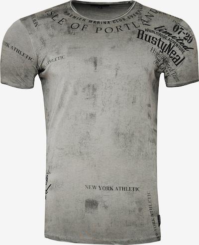 Rusty Neal T-Shirt mit lässigem Print in grau, Produktansicht