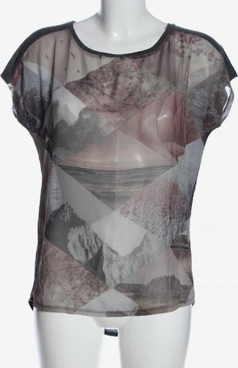 CATWALK JUNKIE Kurzarm-Bluse in S in hellgrau / pink, Produktansicht
