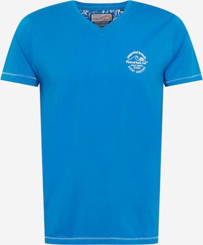 Petrol Industries T-Krekls, krāsa - zils / balts, Preces skats