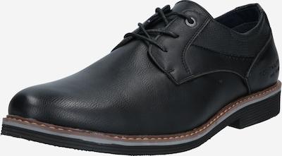 TOM TAILOR Schnürschuh in schwarz, Produktansicht