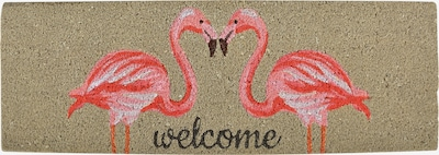 esschert design Fußmatte 'Flamingo' in beige / pink / schwarz, Produktansicht