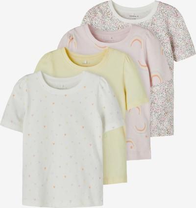 NAME IT Shirt 'BATARAIA' in gelb / pink / weiß, Produktansicht
