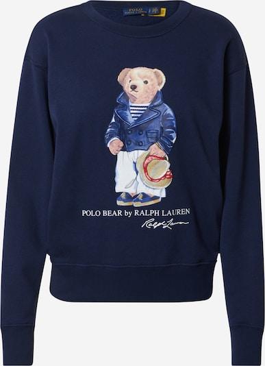 POLO RALPH LAUREN Sweatshirt in Navy / Brown / Red / White, Item view