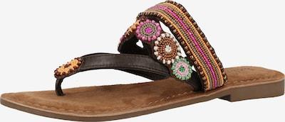 LAZAMANI Sandalen in dunkelbraun / mischfarben, Produktansicht