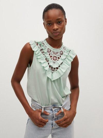 MANGO Bluse 'JAVITA' in mint, Modelansicht