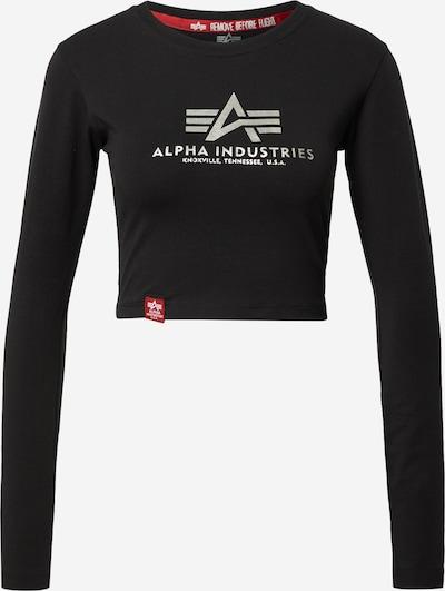 ALPHA INDUSTRIES T-shirt en noir / argent, Vue avec produit