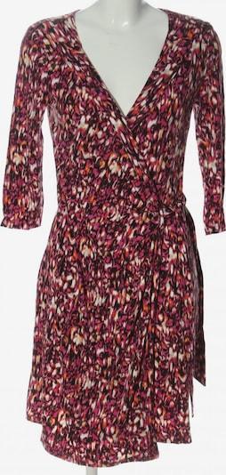 Cynthia Rowley Wickelkleid in M in hellorange / pink / schwarz, Produktansicht