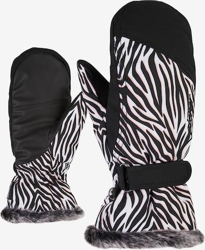 ZIENER Skihandschuhe 'KEM' in schwarz / weiß, Produktansicht