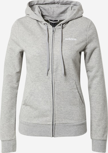 ADIDAS PERFORMANCE Sports sweat jacket 'Essentials Solid' in grey mottled, Item view