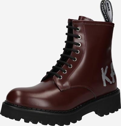 Karl Lagerfeld Šnurovacie členkové čižmy 'TROUPE' - sivá / tmavočervená, Produkt