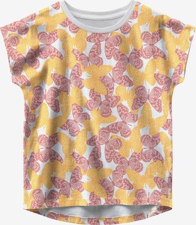 NAME IT Shirt 'Vigga' in de kleur Geel / Rosé / Wit, Productweergave