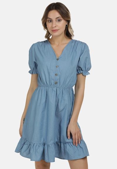 DreiMaster Vintage Kleid in rauchblau, Modelansicht