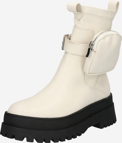 Public Desire Boots 'THOUGHT' in schoko / naturweiß, Produktansicht