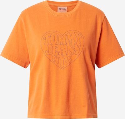 Tommy Jeans T-Krekls, krāsa - tumši zils / oranžs, Preces skats