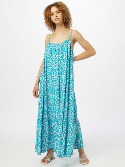 DELICATELOVE Kleid in türkis / offwhite, Modelansicht