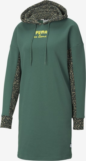 PUMA Kleid in neongelb / anthrazit / khaki / smaragd, Produktansicht