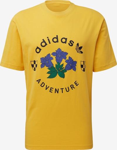 ADIDAS ORIGINALS Shirt 'Adventure Graphic' in de kleur Geel / Grasgroen / Donkerlila / Zwart, Productweergave