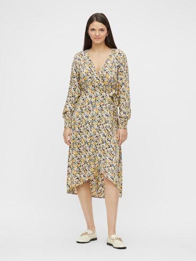 PIECES Sukienka 'Sille' w kolorze żółty / czarnym, Podgląd na modelu(-ce)