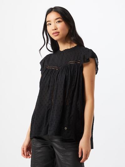 Superdry Bluzka 'Monika' w kolorze czarnym, Podgląd na modelu(-ce)