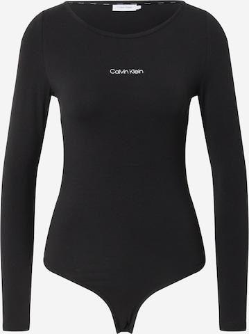 Calvin Klein Shirt Bodysuit in Black