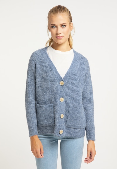 usha BLUE LABEL Strickjacke in blau, Modelansicht